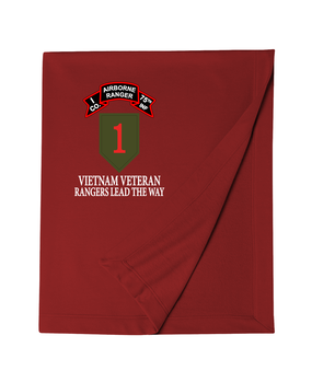 1st Infantry Division Company I  75th Infantry Embroidered Dryblend Stadium Blanket