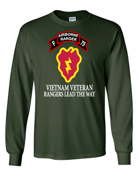 25th Infantry Division Company F  75th Infantry Long-Sleeve Cotton T-Shirt -FF