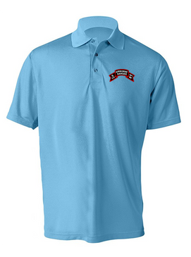 G Company  75th Infantry Embroidered Moisture Wick Polo