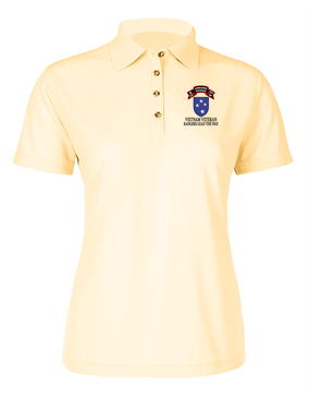 23rd Infantry Division G Company  75th Infantry Ladies Embroidered Moisture Wick Polo Shirt