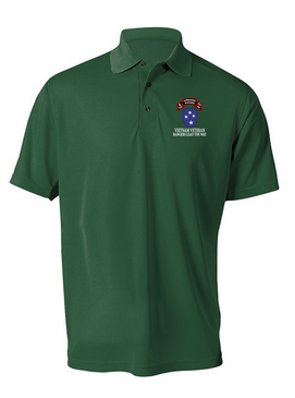 23rd Infantry Division Company  75th Infantry Embroidered Moisture Wick Polo