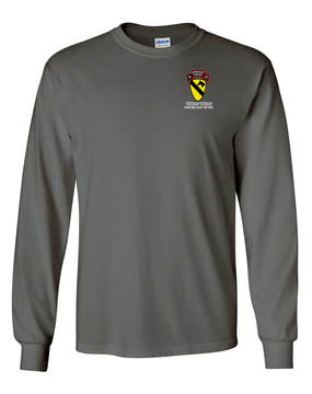 1st Cavalry Division H Company  75th Infantry Long-Sleeve Cotton T-Shirt