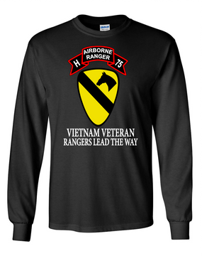 1st Cavalry Division H Company  75th Infantry Long-Sleeve Cotton T-Shirt -FF
