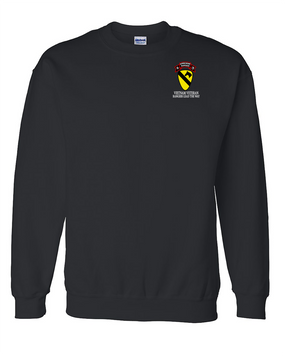 1st Cavalry Division H Company  75th Infantry Embroidered Sweatshirt