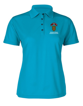 1st Infantry Division I Company  75th Infantry Ladies Embroidered Moisture Wick Polo Shirt