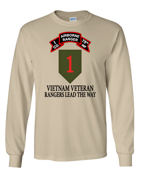 1st Infantry Division I Company  75th Infantry Long-Sleeve Cotton T-Shirt -FF
