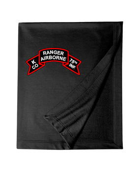 K Company 75th Infantry Embroidered Dryblend Stadium Blanket