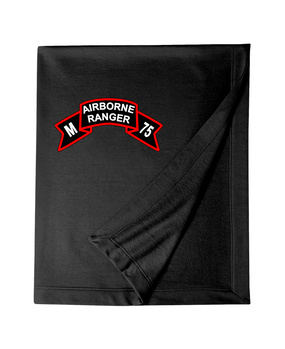 M Company 75th Infantry Embroidered Dryblend Stadium Blanket