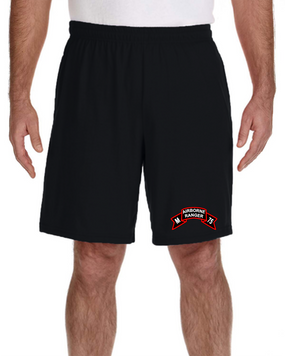 M Company 75th Infantry Embroidered Gym Shorts