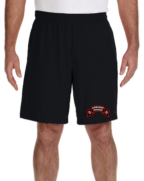 O Company 75th Infantry Embroidered Gym Shorts