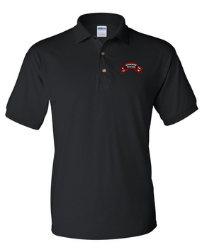 P Company 75th Infantry Embroidered Cotton Polo Shirt
