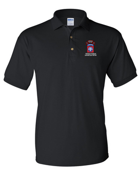 82nd Airborne Division O Company 75th Infantry Embroidered Cotton Polo Shirt