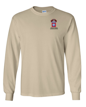 82nd Airborne Division O Company 75th Infantry Long-Sleeve Cotton T-Shirt