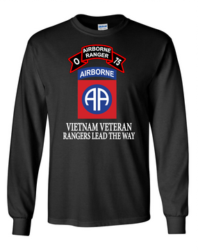 82nd Airborne Division O Company 75th Infantry Long-Sleeve Cotton T-Shirt-FF