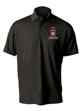 82nd Airborne Division O Company 75th Infantry Embroidered Moisture Wick Polo