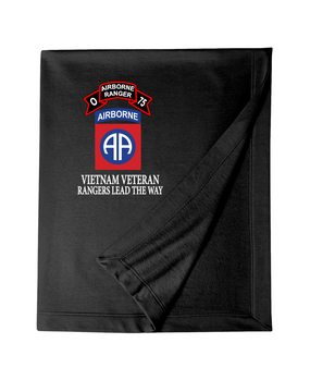 82nd Airborne Division O Company 75th Infantry Embroidered Dryblend Stadium Blanket