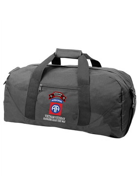 82nd Airborne Division O Company 75th Infantry Embroidered Duffel Bag
