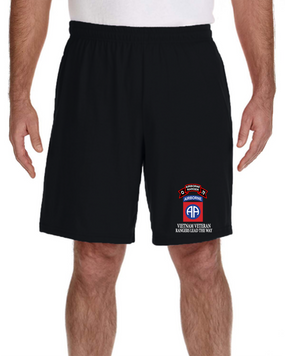 82nd Airborne Division O Company 75th Infantry Embroidered Gym Shorts