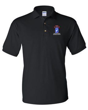 173rd Airborne N Company 75th Infantry Embroidered Cotton Polo Shirt
