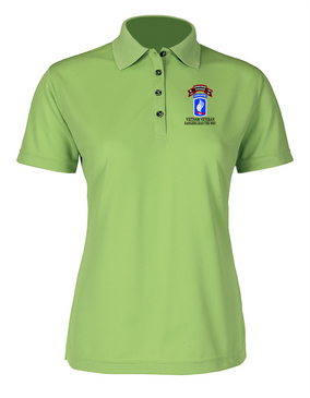 173rd Airborne N Company 75th Infantry Ladies Embroidered Moisture Wick Polo Shirt