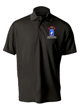 173rd Airborne N Company 75th Infantry Embroidered Moisture Wick Polo