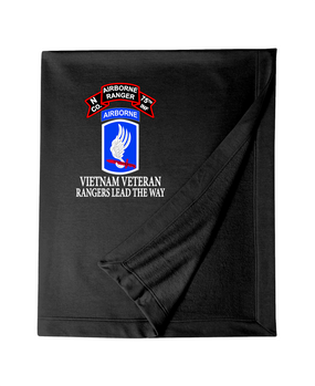 173rd Airborne N Company 75th Infantry Embroidered Dryblend Stadium Blanket