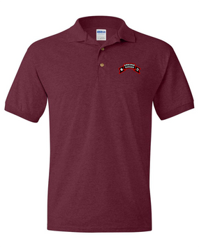 M Company 75th Infantry Embroidered Cotton Polo Shirt