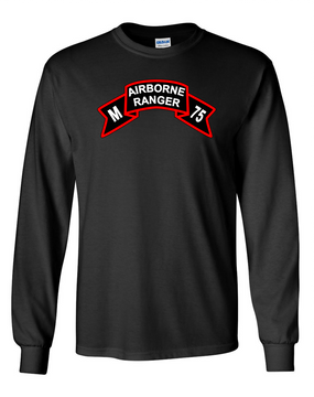 M Company 75th Infantry Long-Sleeve Cotton T-Shirt-FF