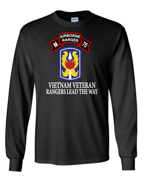 199th LIB M Company 75th Infantry Long-Sleeve Cotton T-Shirt-FF