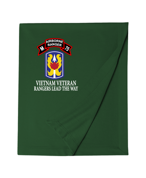 199th LIB M Company 75th Infantry Embroidered Dryblend Stadium Blanket