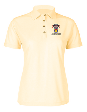 199th LIB M Company 75th Infantry Ladies Embroidered Moisture Wick Polo Shirt