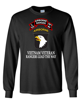 101st Airborne Division  L Company 75th Infantry Long-Sleeve Cotton T-Shirt-FF