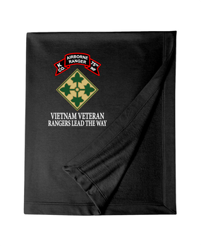 4th Infantry Division K Company 75th Infantry Embroidered Dryblend Stadium Blanket