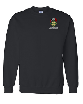 4th Infantry Division K Company 75th Infantry Embroidered Sweatshirt