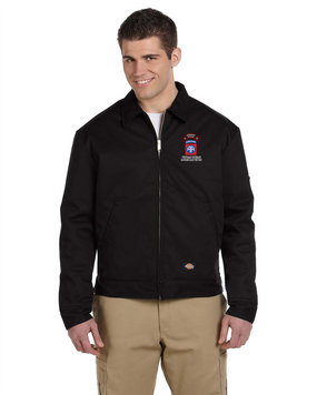 82nd Airborne Division O Company 75th Infantry Embroidered Dickies 8 oz. Lined Eisenhower Jacket