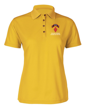 5th Infantry Division P Company 75th Infantry Ladies Embroidered Moisture Wick Polo Shirt