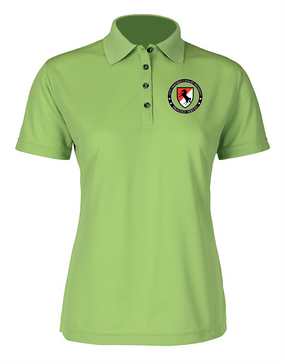 Ladies 11th ACR Embroidered Moisture Wick Polo Shirt-Proud