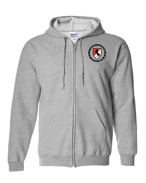 11th ACR Embroidered Hooded Sweatshirt with Zipper-Proud