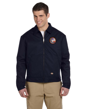 Tampa Chapter Embroidered Dickies 8 oz. Lined Eisenhower Jacket