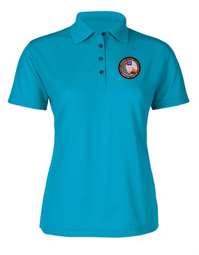 Ladies Tampa Chapter  Embroidered Moisture Wick Polo Shirt