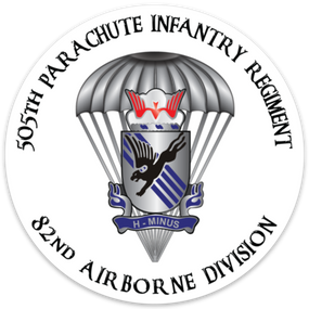 505th Parachute Infantry Regiment  Vinyl Cut Decal