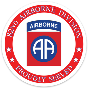 82nd Airborne Division Vinyl Cut Decal-Proud