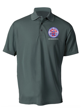 82nd Airborne Association 2019 Convention  Embroidered Moisture Wick Polo