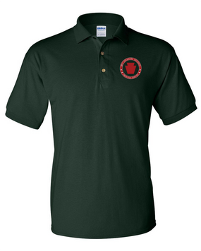 28th Infantry Division Embroidered Cotton Polo Shirt-Proud