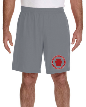 28th Infantry Division Embroidered Gym Shorts-Proud