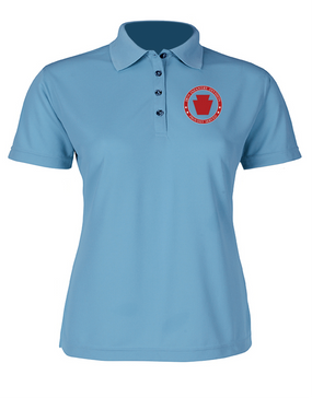 28th Infantry Division  Ladies Embroidered Moisture Wick Polo Shirt-Proud