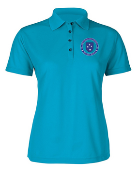 23rd Infantry Division Ladies Embroidered Moisture Wick Polo Shirt-Proud