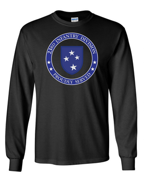23rd Infantry Division Long-Sleeve Cotton T-Shirt-Proud  (FF)