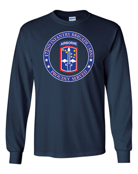 172nd Infantry Brigade (Airborne)  Long-Sleeve Cotton T-Shirt-Proud  (FF)