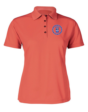 172nd Infantry Brigade (Airborne)  Ladies Embroidered Moisture Wick Polo Shirt-Proud